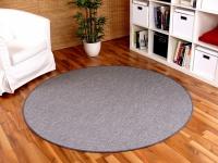 Teppich Bentzon Flachgewebe Silber Rund in 7 Größen