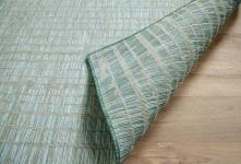 In- und Outdoor Teppich Beidseitig Flachgewebe Hampton Streifen Mintgrün