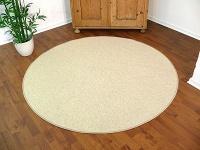 Teppich Bentzon Flachgewebe Beige Rund in 7 Größen