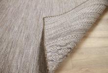 In- und Outdoor Teppich Beidseitig Flachgewebe Hampton Taupe Modern