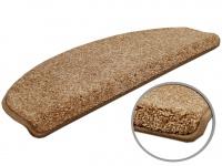 Velours-Stufenmatte Triumph Beige (halbrund) in 2 Größen