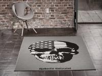 Designer Teppich Roberto Geissini American Skull Grau