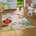 Kinder Teppich Faro Safari Bunt Tiere