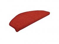 Natur Sisal Stufenmatten Rot (halbrund) in 2 Größen