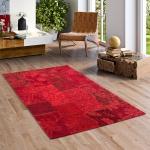 Luxus Vintage Designerteppich Patchwork Rot