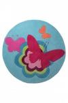 ESPRIT Kinderteppich ButterflyTürkis Rund