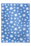 Wecon Home Teppich Cosmic Glamour Jeans Star Blau