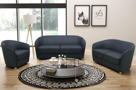 3-tlg. Polstergarnitur 2er Sofa 3er Couch Sessel Federkern 2 Farben Kunstleder DO-Celia