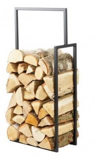 Brennholzregal 2 Größen 90 cm 120 cm Stahl schwarz Kaminholzständer N-BR-135