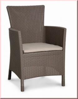 Dining Sessel inkl. Sitzkissen Gartensessel Gartenstuhl 2 Farben Rattan-Optik BF-Nizza-S