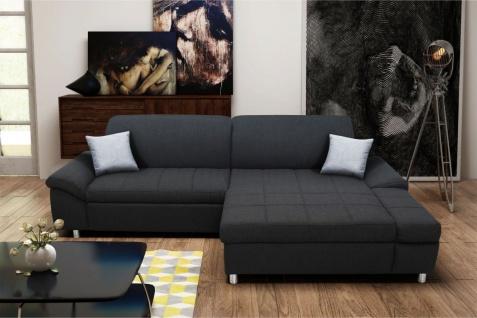 Ecksofa multifunktional Sitz- Rücken- Armlehnen- Bettfunktion 3 Farben 2 Stoffe DO-Myra