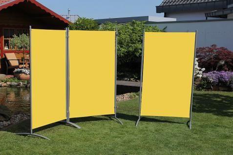 Paravent Sichtschutz 3-tlg. einzeln stellbar 5 Farben LC-Walls