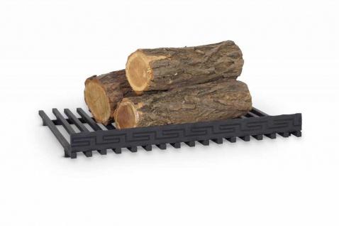 Feuerrost Kaminrost Feuerbock Eisen schwarz Kaminofenzubehör 51 x 42 x 8 cm N-FR-203