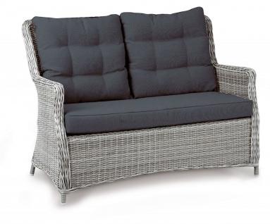 2-Sitzer Gartensofa Lounge Sofa inkl. Polster grau-meliert wetterfest BF-Bahamas