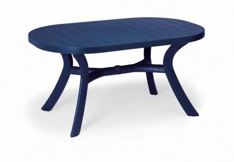 Gartentisch Tisch oval 145 x 95 cm 6 Farben 4-Bein Gestell BF-Korfu-2