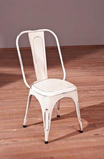 Stuhlset 4x Stuhl Metall 5 Farben Shabby Chic Aira