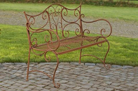 Gartenbank Metall 5 Farben antik CL-Tori - Vorschau 1