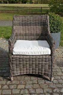 Stuhl Sessel Gartenmöbel Kissen Rattan grau meliert CL-Samos-3