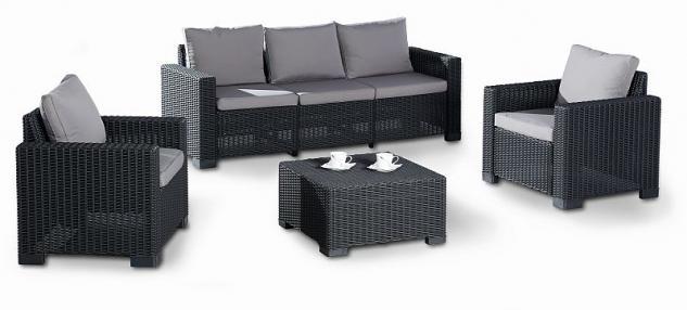 Gartenmöbel-auflagen  4-tlg Lounge Sitzgruppe Gartenmöbel Auflagen 2 Farben BF-Miami ...