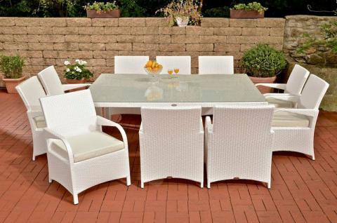 Rattan Gartenmöbel Weiß online bestellen bei Yatego