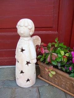 Windlicht Engel Terracotta natur Höhe 43 cm AußenNachbildungation Weihnachten F-Angel