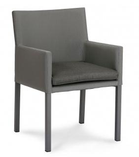 Edler Dining-Sessel inkl. Sitzpolster Gartenstuhl Alugestell BF-Tonga