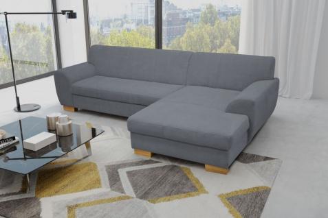 Ecksofa Bettfunktion wählbar Sofa L-Form Recamiere Farbwahl DO-Fox