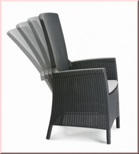 Relax Sessel 4-fach verstellbar Positionssessel inkl. Kissen Dining Sessel 2 Farben BF-Caracas