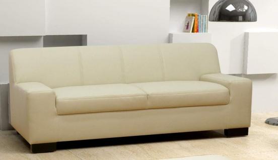 3-tlg. Couchgarnitur 3er Couch 2er Sofa Hocker Polstergarnitur DO-Napoli - Vorschau 2