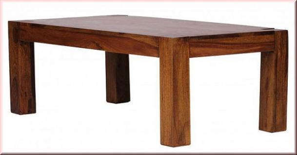 Couchtisch rechteckig Massivholz 2 Holzarten Akazie Sheesham W-C41448