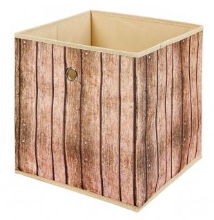 Faltbox 1x Aufbewahrungsbox 3 Dessins wählbar Holzoptik Regalbox 32 x 32 x 32 cm L-Woody - Vorschau 2