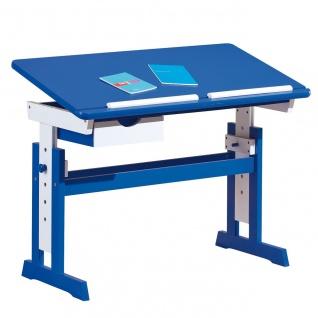 Schreibtisch Kinderschreibtisch Massivholz 2 Farben pink blau Höhen- Neigungsverstellung L-Pisa