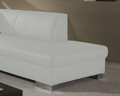 Eckcouch Bettfunktion L-Sofa Wohnlandschaft L-Form 2 Farben schwarz weiß DO-Taverna - Vorschau 4