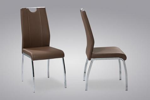 4 x Stuhl Stuhlset Chrom 2 Farben R-Roman