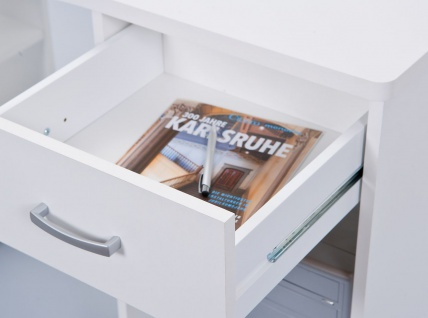 Eckschreibtisch Schreibtisch Schublade 2 Farben Sonoma-Eiche weiß L-Capri - Vorschau 4