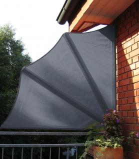 Balkonfächer inkl. Schutzhülle 3 Farben Seitenmarkise Windschutz Sichtschutz 140 cm LC-Sun