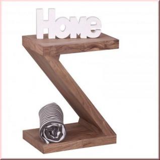 Design Beistelltisch Regal Massivholz 2 Holzarten Akazie Sheesham Z Cube Konsole W-Z1456