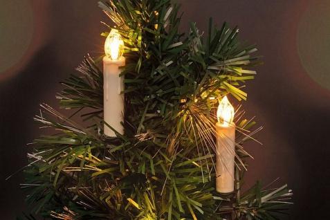 20er Set LED Weihnachtskerzen warmweiß kabellos Christbaumkerzen Fernbedienung H-Lights