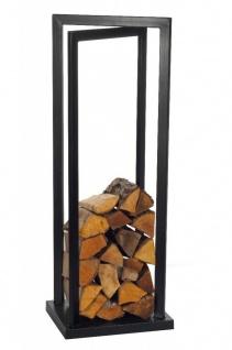 Kaminholzregal Stahl schwarz Kaminholzständer Brennholzregal 120 cm hoch N-BR-121