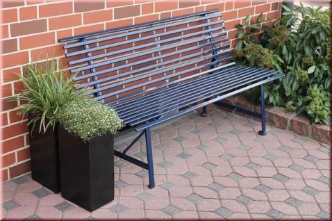 Gartenbank 3 Farben anthrazit blau elfenbein Stahlbank Bank 150 cm 3-Sitzer Stahlrohr LC-Steel