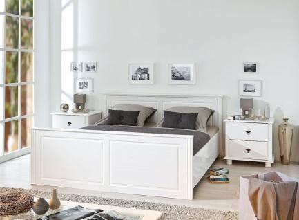 Bett Doppelbett Einzelbett 4 Größen Landhausstil Massivholz weiß Holzmaserung L-Dank-5 - Vorschau 3