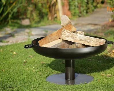 Feuerschale rund 3 Größen 2 Varianten Stahl Standfuß mittig Feuerstelle 60/70/80 cm N-P41