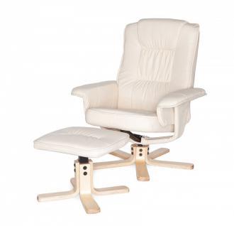 Relaxsessel inkl. Hocker Sessel 2-tlg. Wippmechanik Drehfunktion Rücken verstellbar 2 Farben W-RS52