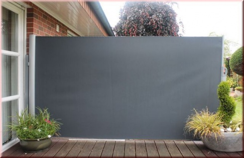 Seitenmarkise 2 Farben Sichtschutz Windschutz 300 x 160 cm ausziehbar LC-Air