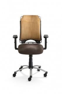 Schreibtischstuhl 4 Farben Bürostuhl Armlehnen höhenverstellbar Gewichtseinstellung M-Sky - Vorschau 3