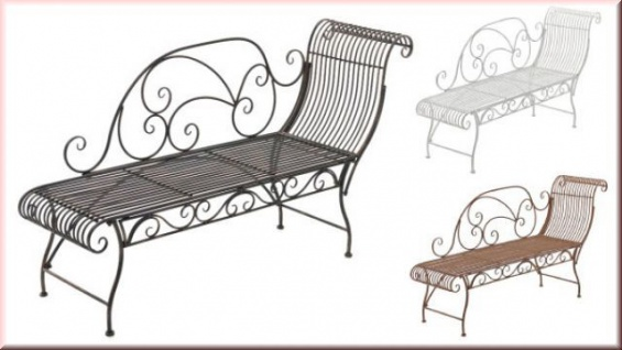 recamiere longchair gartenbank nostalgie bank retro metall eisen 5 antik farben cl karo kaufen. Black Bedroom Furniture Sets. Home Design Ideas