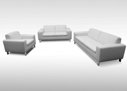 3-tlg. Couchgarnitur 2-Sitzer 3-Sitzer Sofa Sessel Polstergarnitur Stoff- Farbwahl DO-Salandra