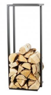 Kaminholzständer 2 Größen Stahl schwarz Feuerholzregal handgefertigt N-BR-136