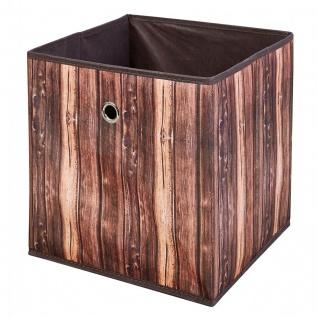 Faltbox 1x Aufbewahrungsbox 3 Dessins wählbar Holzoptik Regalbox 32 x 32 x 32 cm L-Woody - Vorschau 3