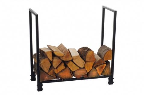 Brennholzregal 2 Größen Stahl schwarz Kaminholzständer Kaminholzregal N-BR-115